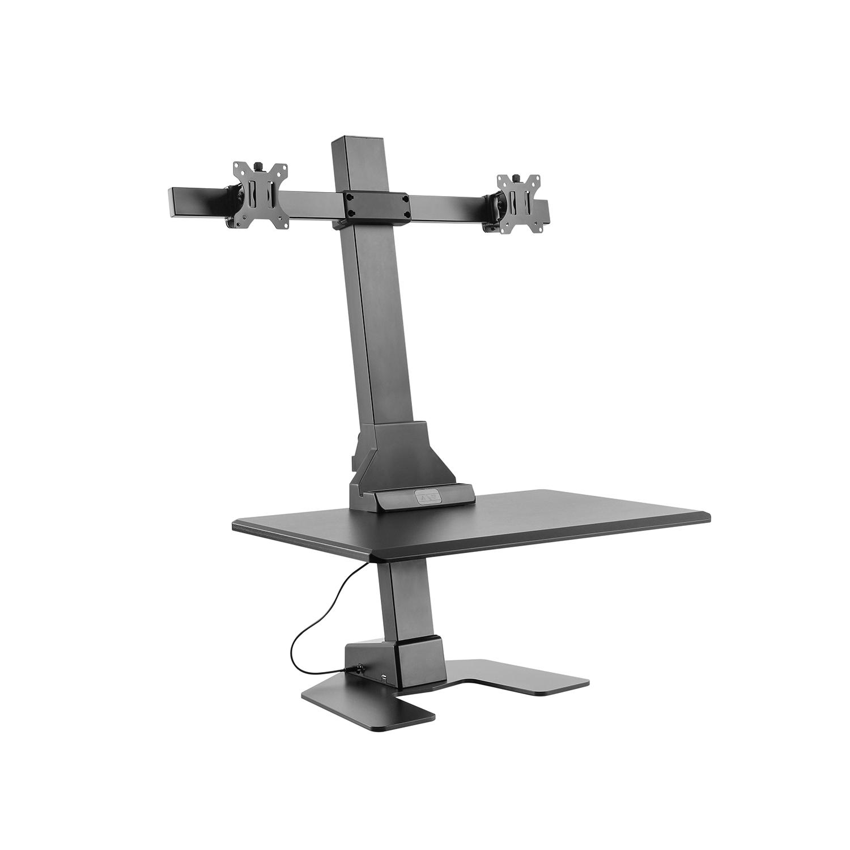 Ergovida Dual Monitor Electric Vertical Bar Desktop